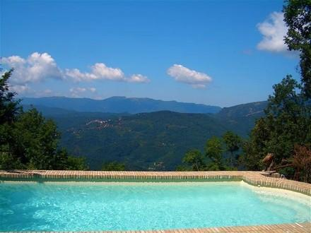 Near Rome, in Subiaco, Italy, Villa with Private Pool, Skiing in Winter, and Superb Views - Image 1 - Subiaco - rentals