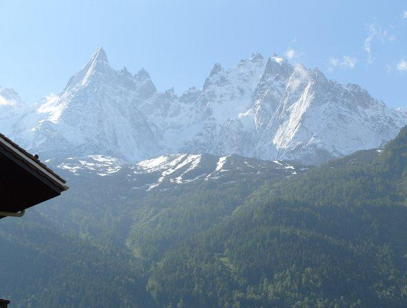 View from the balcony - Beautiful Chamonix Mont Blanc Apartment to rent , - Chamonix - rentals