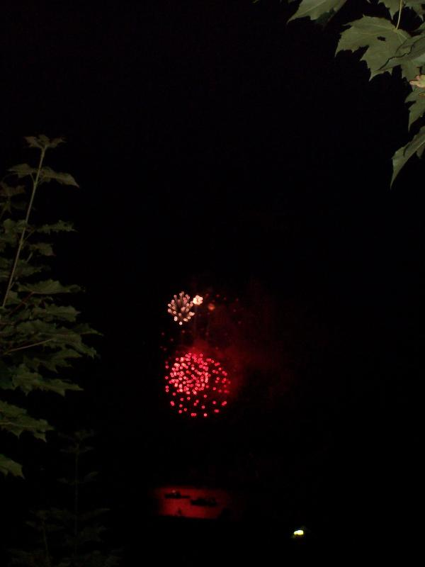 Fire works viewed from the main dek - Capt. Dunton's Apartment - Boothbay Harbor - rentals
