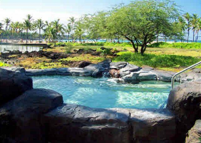 Lava Rock Spa - Exceptional 3 bedroom, 2 bath ground floor end unit with fabulous garden view - Waikoloa - rentals