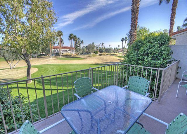 Patio with a view - Highly Upgraded 2 bedroom condo with golf course views of PGA West - La Quinta - rentals