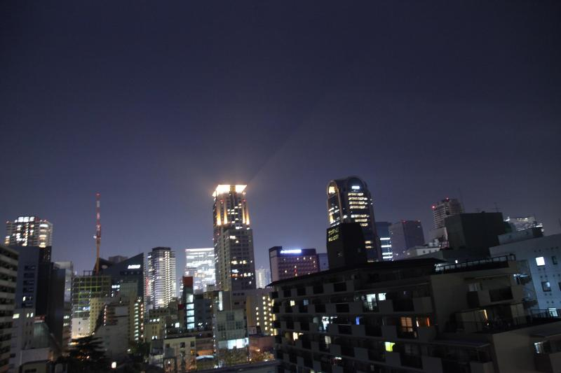 The stunning night view from our balcony - Umeda City Skyline View Private Apartment in Osaka - Osaka - rentals