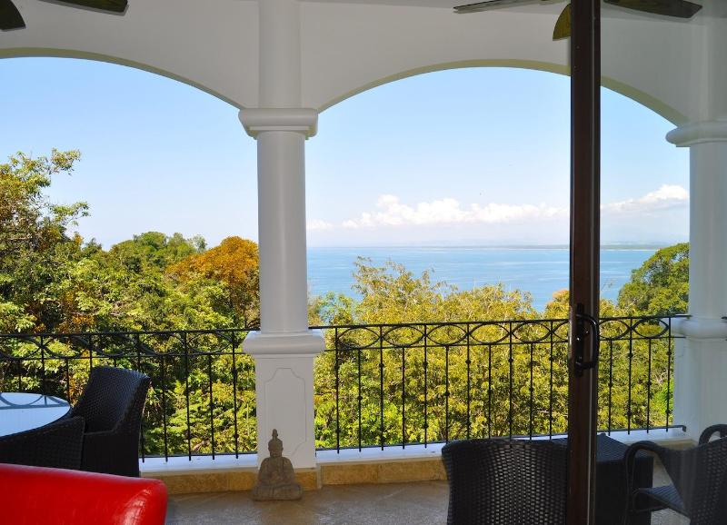 living area balcony - The Penthouse, 3 bedroom Ocean view - Manuel Antonio - rentals
