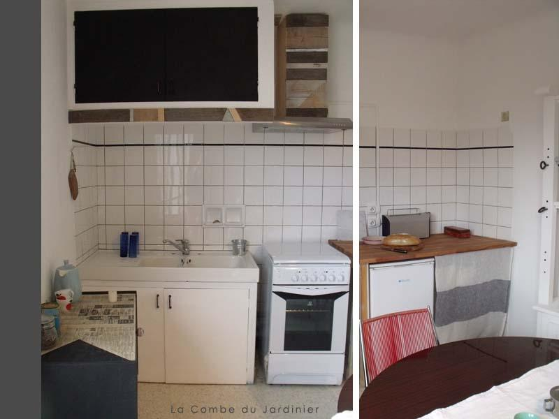 our simple kitchen flooded with light - Le Cabanot /The wee House - Beaufort - rentals
