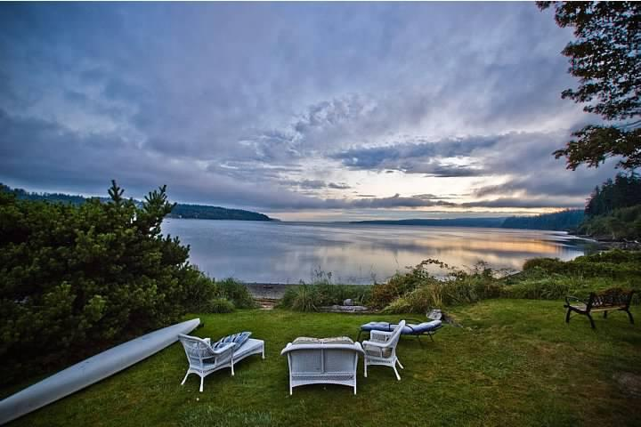 Your grand sunset view from the deck - Waterfront Beachhouse with Great View! - Freeland - rentals