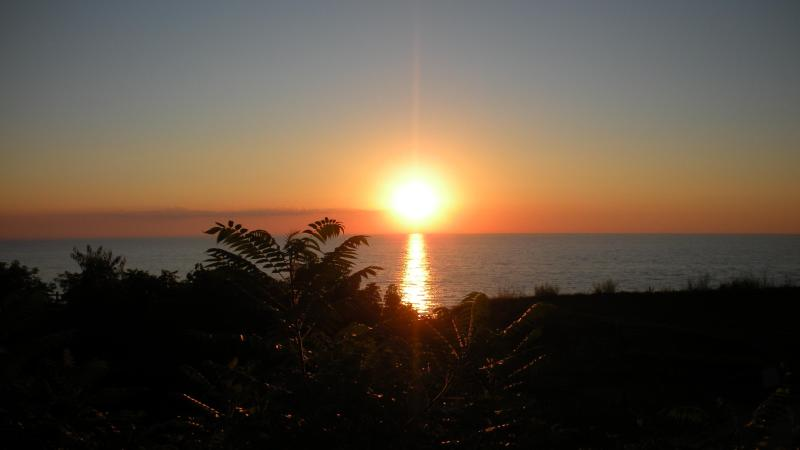 Sunset on our deck - Million Dollar view on Lake MI - Coloma - rentals
