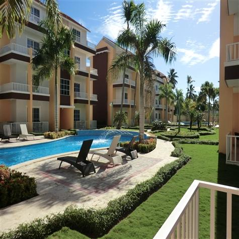 View from balcony - Estrella del Mar 2BR steps from pool and gazebo - Punta Cana - rentals