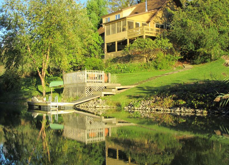 House view from the lake - Catskill Mountain/Hudson Valley Lakefront Retreat - Athens - rentals