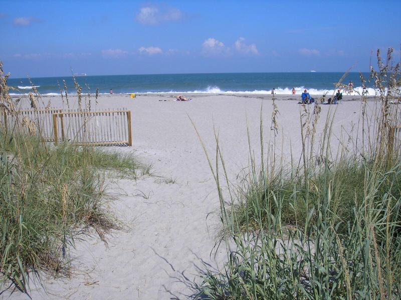 View of beach from our shaded path - 2 Bedroom/2Bath Tropical Villa - Cape Canaveral - rentals