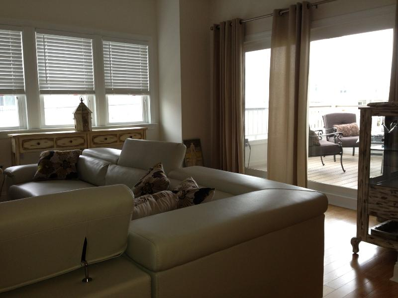 View of Great Room from Kitchen - Beautiful New Construction Shore Condo - Sea Isle City - rentals