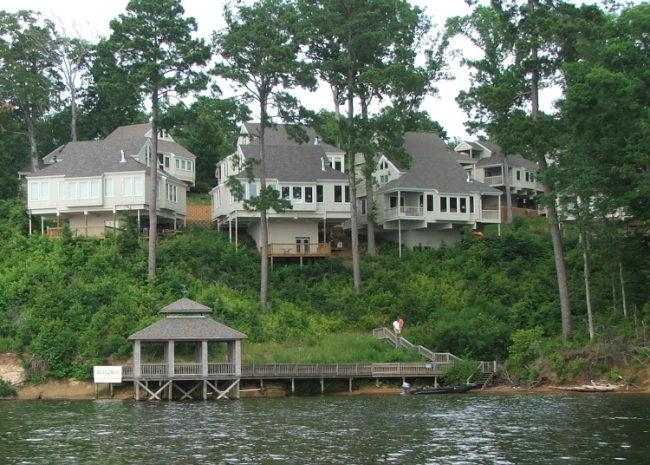 Villa view from lake - Toledo Bend - Cypress Bend Resort 4 BR Villa - Incredible Lake Views - Many - rentals
