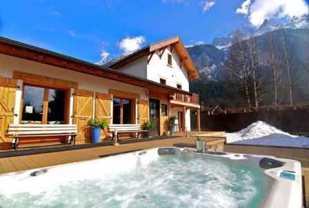 Room 7 & 8 Mont Blanc Spa Chalet - interconnecting twin rooms - Image 1 - Chamonix - rentals
