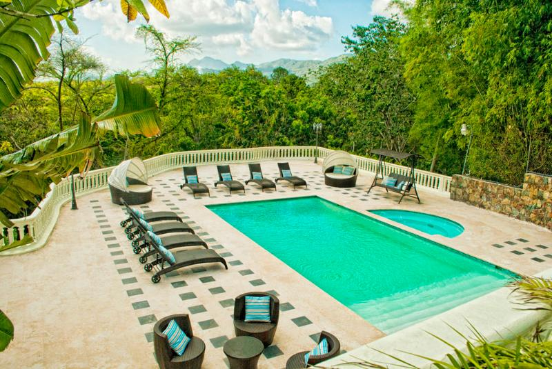 Pool and Jacuzzy - luxury  Villa w/ Pool, 2 Jacuzzis and River! - Santo Domingo - rentals