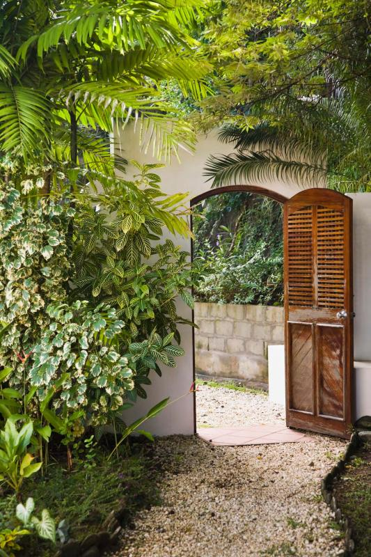 Villa Being Entrance - Inside View - Being - The Hippest, Happiest Spot in Tobago - Arnos Vale - rentals