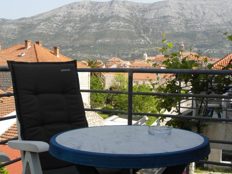 Blue room balcony - Room with Balcony in the center of Korcula - Blue - Korcula - rentals