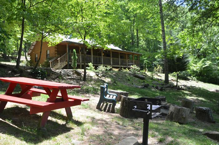 Private Picnic Area With Grill, Firepit, and Horseshoes - Amazing 4 Bedrm Cabin in the Heart of the Smokies - Cherokee - rentals