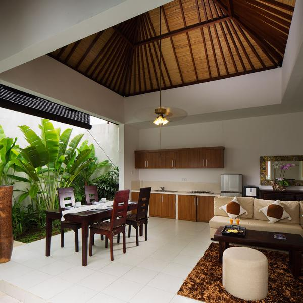 Living Room, Kitchen, Dining Room - Bella 2 Bedroom Villa In Seminyak - Seminyak - rentals
