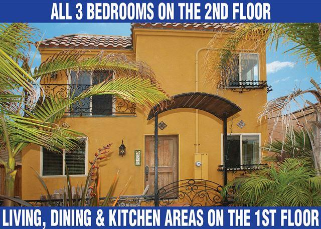 Fabulous stand alone home with great views from private rooftop deck! - Image 1 - San Diego - rentals
