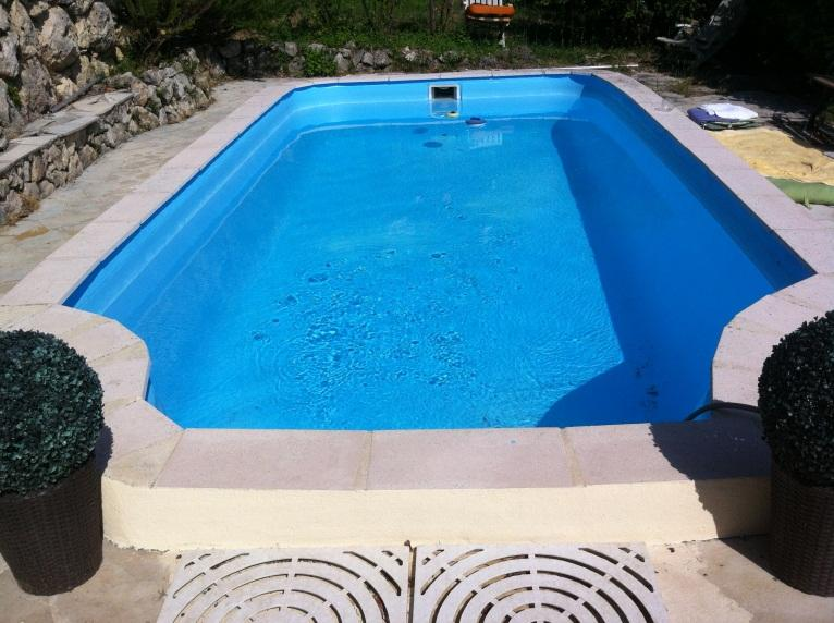 the swimming pool on a private terrace - A nice charming stone house for romantic holidays! - Saint Jeannet - rentals