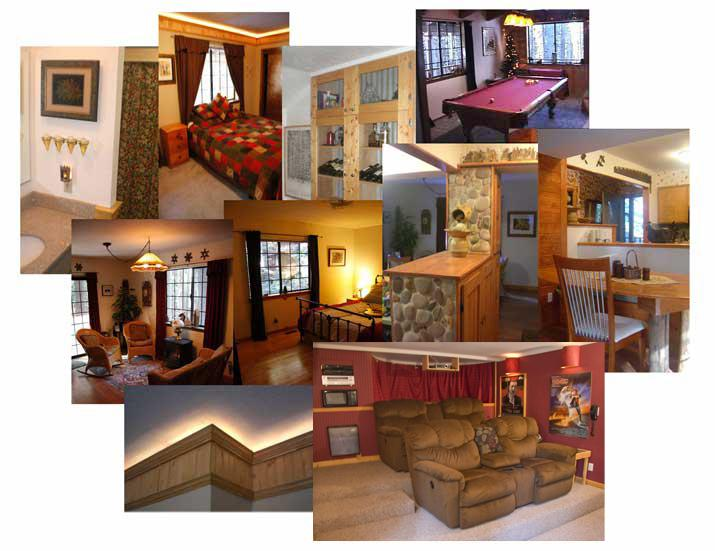 Interior Collage - The Sweet Retreat: Nicer & Easier Than Tahoe - Dorrington - rentals