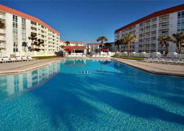 Your unit is looking across this gulf front pool to the beach. - Gulf Front Building for this 2 bed, 2 bath - Nice Beachview Condo - Fort Walton Beach - rentals