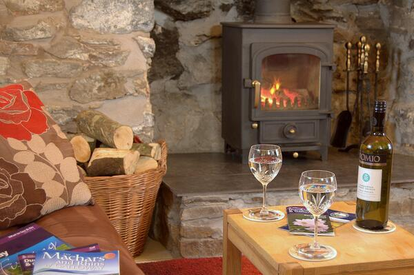 Auld Smiddy Sittingroom with Log Fire - Auld Smiddy pet friendly coastal holiday cottage - Drummore - rentals