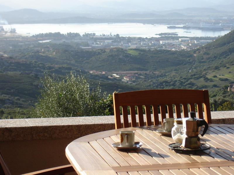 View from the veranda - Stunning View On Olbia's Gulf In Sardinia - Olbia - rentals