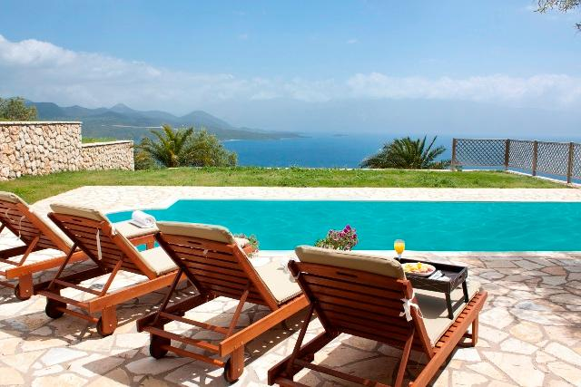 Villa Chritina, private villa with private pool sea views, bbq, garden near Nidri - Image 1 - Vasiliki - rentals