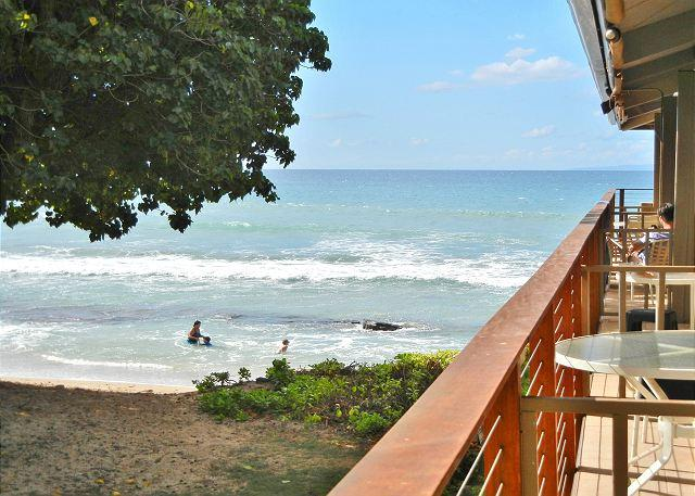 Lanai view from Hale Kai #206 - Hale Kai # 206 – Your lovely seaside vacation condo in West Maui, Hawaii - Lahaina - rentals