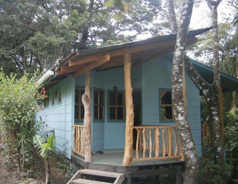 The cabina is nestled against the forest above the creek - Monteverde Forest Hideaway--Posada del Perezoso - Monteverde Cloud Forest Reserve - rentals