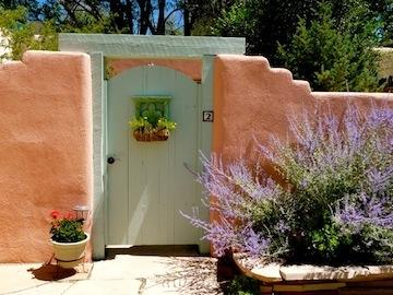 private front gate to garden and condo - Walk to Plaza, private garden, SW charm, romantic! - Taos - rentals