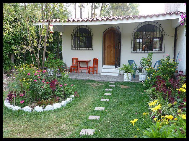 Front of house with porch and part of garden - 2-bed house in Pana - 10% DISCOUNT Sept/Oct - Panajachel - rentals