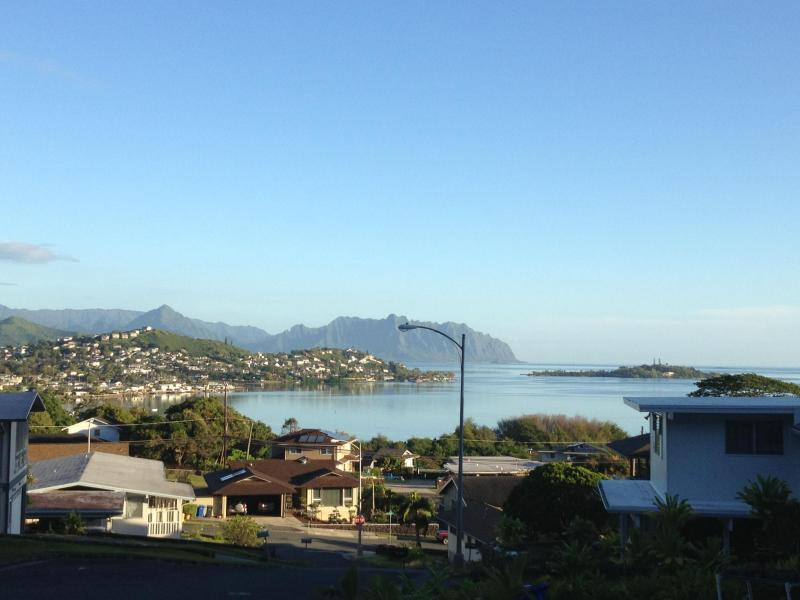 Spectacular view of Kaneohe Bay, ocean, Ko'olau Mountains - Breathtaking Ocean and Mountain Views - Kaneohe - rentals