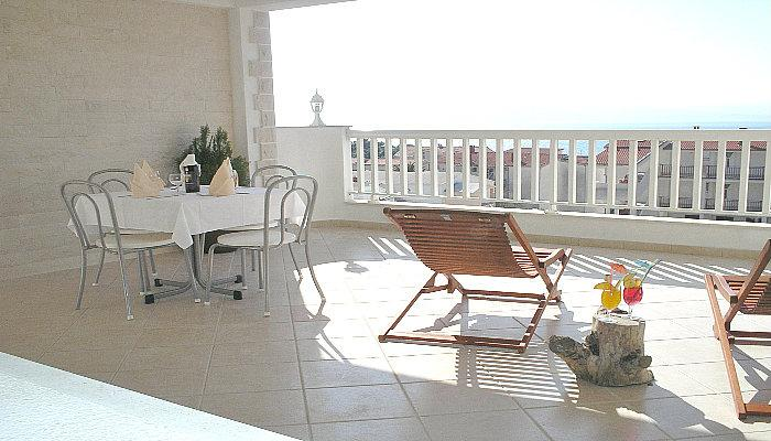 Apartment with terrace with sea view - Image 1 - Baska Voda - rentals