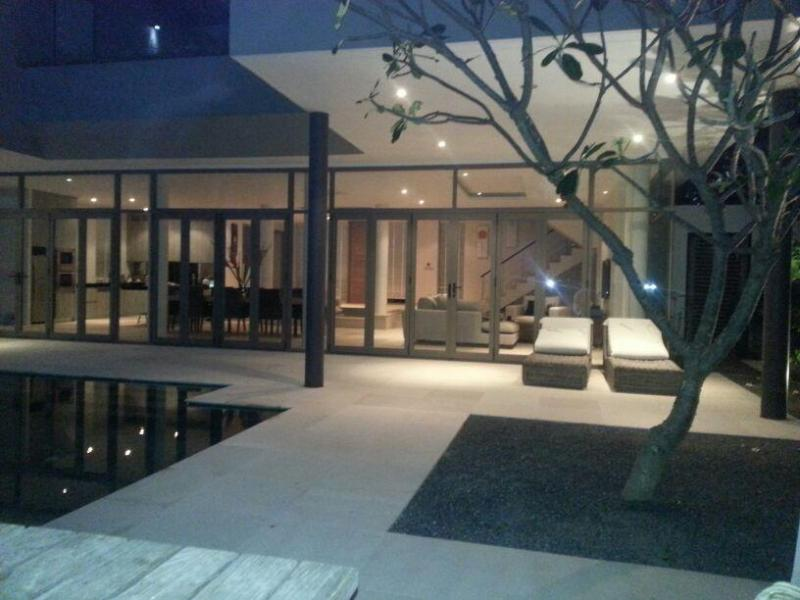 Poolside in evening - Villa of Light -BEACHSIDE New Year now available!! - Mae Nam - rentals