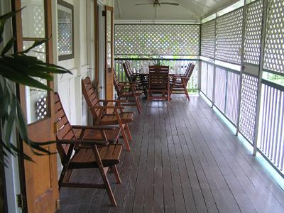 Fully enclosed front veranda - Eyre Cottage,  Family  Accommodation in Townsville - North Ward - rentals