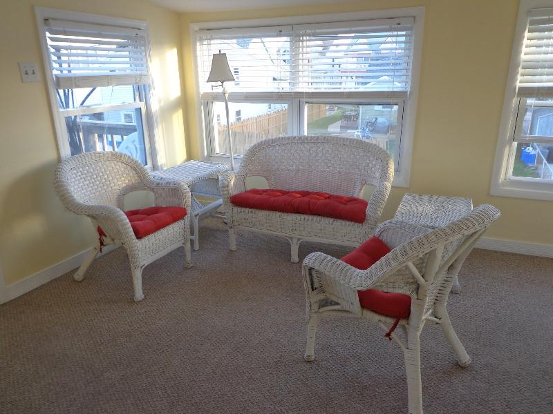 Sun Room from Kitchen - 37th St South 1 Br Apt 2nd Floor Beach Block - Brigantine - rentals