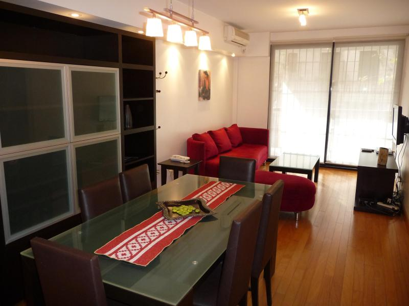 In the living you can find LCD TV, WiFi, telephone, it gives access to the balcony and Kitchen - Great choice! comfortable, well equipped apart. - Buenos Aires - rentals