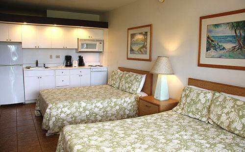Living area from lanai - 2 double beds - Kepuhi Beach 1155 - Maunaloa - rentals