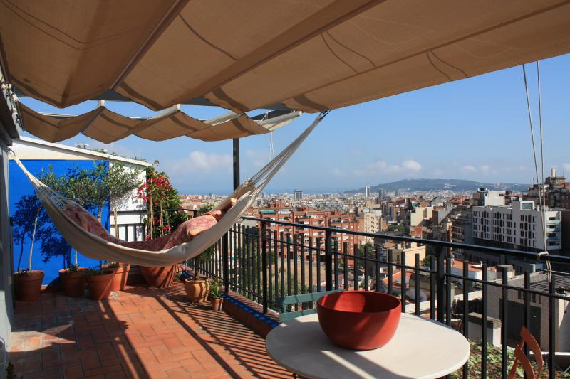 Gràcia-Parc Güell terrace with views over city NEW - Image 1 - Barcelona - rentals