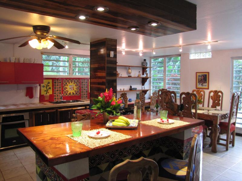 Hacienda Rustic Kitchen - Estancia el Yunque, The Perfect Place for a Rain Forest Retreat! - El Yunque National Forest Area - rentals