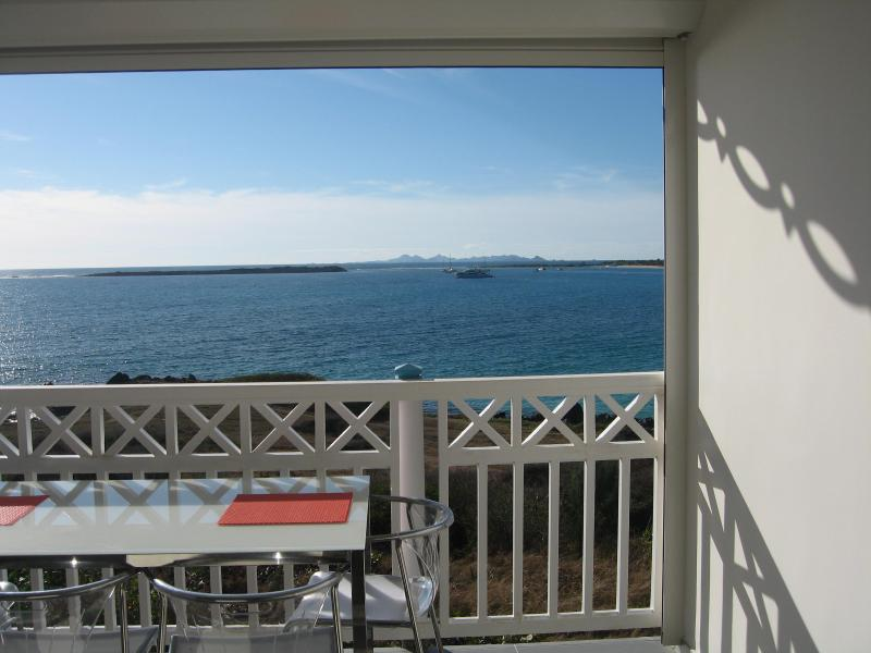 View from Balcony - Amazing Oceanfront Orient Beach Mt Vernon St Martin - Orient Bay - rentals
