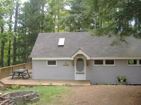 Cabin Entrance - Peaceful Cabin with Lake Access - Monmouth - rentals