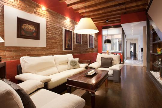 Living room with wifi, tv, hifi music - Wonderful apartment with charm in Gracia center - Barcelona - rentals