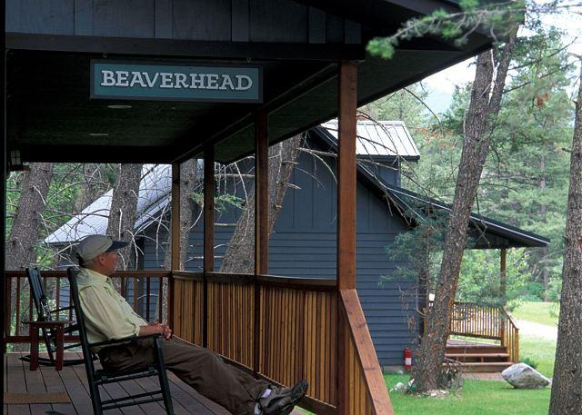 Kick back and enjoy the porch - Big River Lodge - Beaverhead Cabin - Gallatin Gateway - rentals