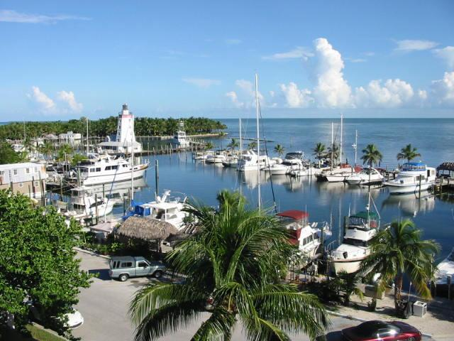View of Marina from Condo - Spacious Top Floor Condo w/ Panoramic Water View!! - Marathon - rentals