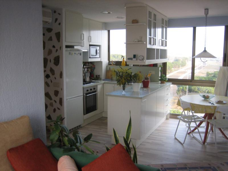 view to the kitchen from living room - Apartment in Gavà Mar near beach & Barcelona - Barcelona - rentals