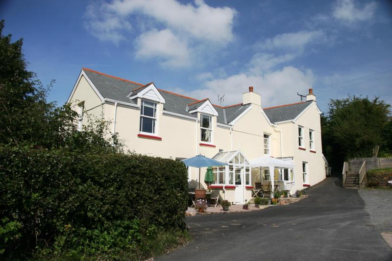 Coming up the drive - Nightingails Bed Breakfast - prices are per person - Combe Martin - rentals