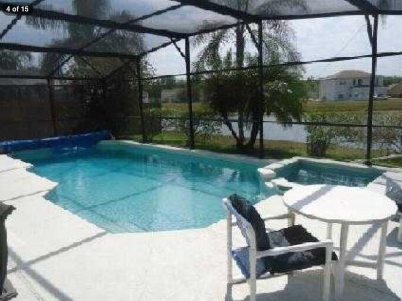 south facing pool with lake view - Lakeside Villa with south facing pool and spa - Kissimmee - rentals