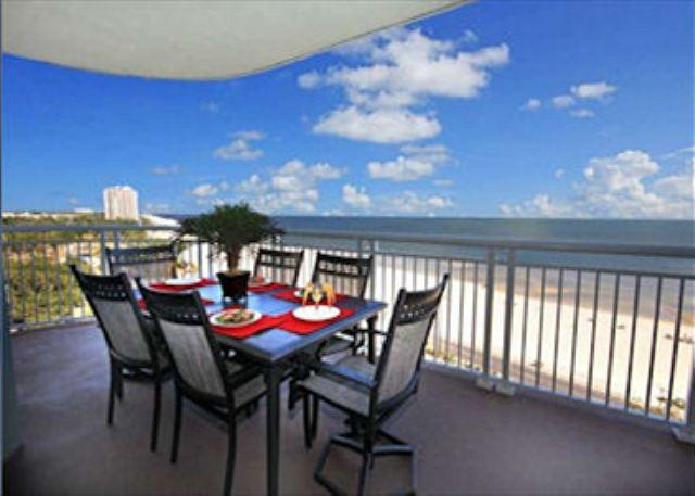 Balcony with Gulf Views - Beautiful 3 Bedroom / 3 Bathroom Corner Unit Overlooking the Gulf LT2-901 - Gulfport - rentals